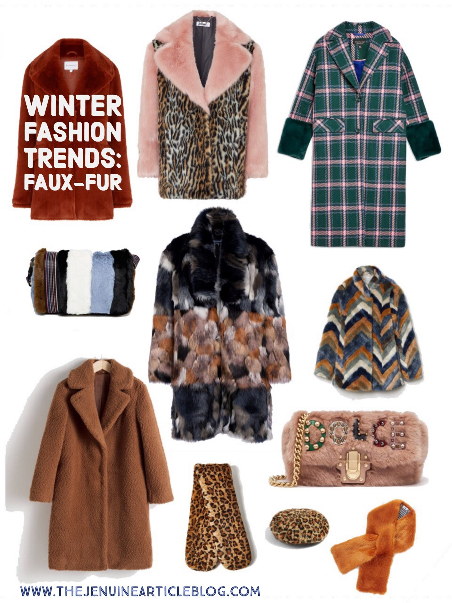 A collection of highly fashionable faux-fur items
