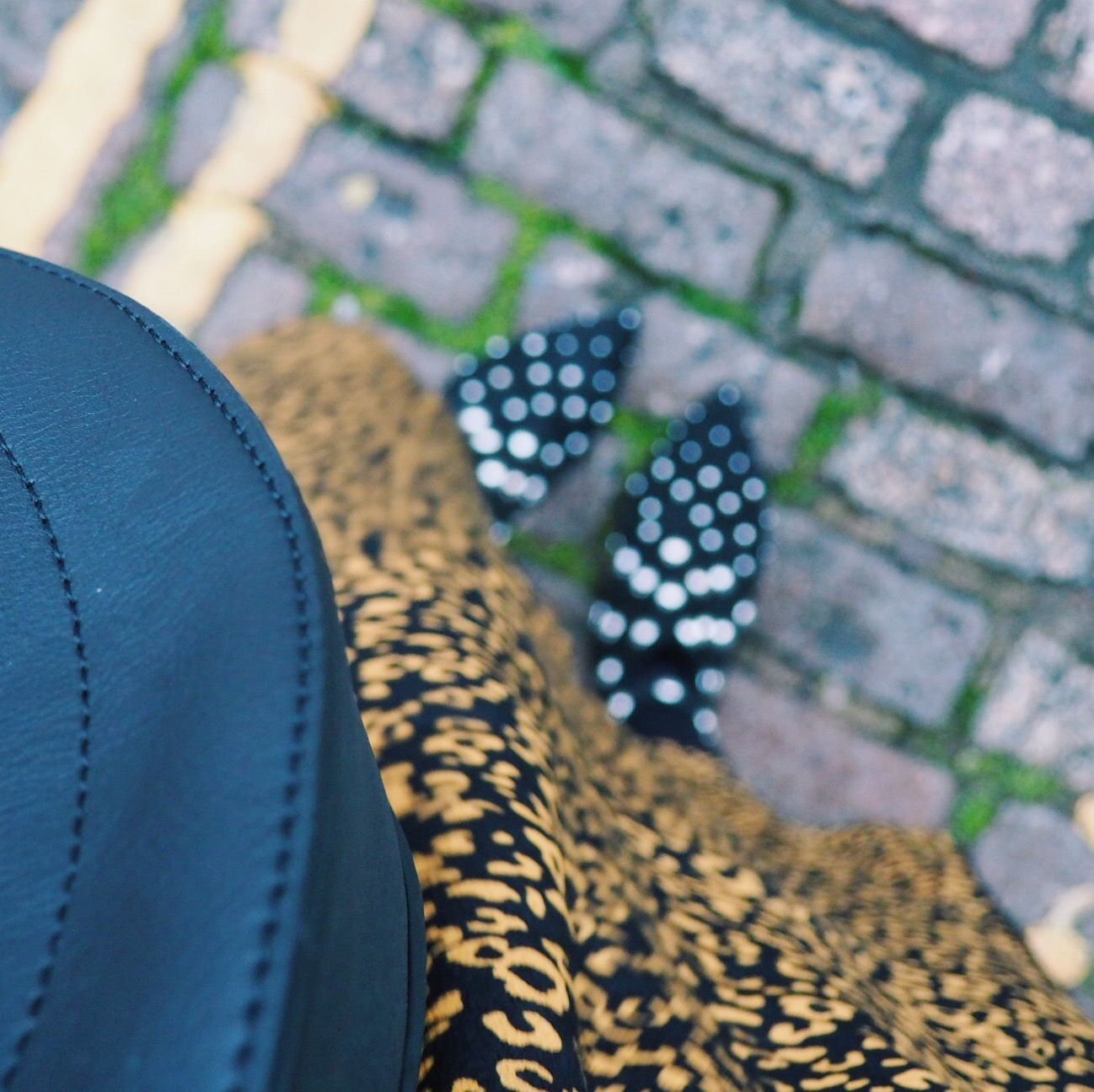 A close up of a Marks and Spencer, midi dress in leopard print